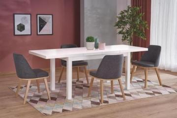 Valgomojo stalas TIAGO 2 išskleidžiamas baltas