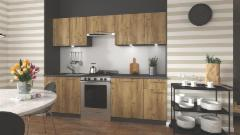Kitchen set Daria 240 auksinis oak Kitchen furniture sets
