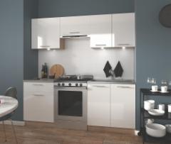 Virtuvės komplektas Marija 200 balta blizgi Virtuves mēbeļu komplekti