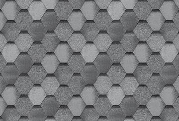 Bituminės lanksčiosios čerpės SONATA SAMBA, pilka Bituminės čerpelės