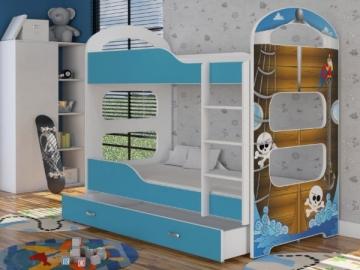 Vaikiška Dviaukštė Lova Dominik 1608 N Vaikiškos lovos