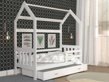 Vaikiška Lova Domek 2 1608 su stalčium Vaikiškos lovos