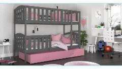 Vaikiška Dviaukštė Lova Kubus 200x80 Vaikiškos lovos
