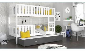 Vaikiška Trivietė Lova Kubus 3 200x80 Vaikiškos lovos