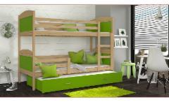 Vaikiška Trivietė Lova Mateusz 3 190x80 Vaikiškos lovos