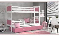 Vaikiška Trivietė Lova Mateusz 3 200x80 Vaikiškos lovos