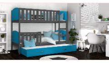 Vaikiška Trivietė Lova Tami 3 200x80 Vaikiškos lovos