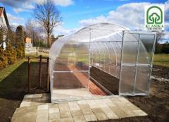 Arched šiltnamis KLASIKA TUBE 6 m2 (3x2 m) su 6 mm polikarbonato danga Greenhouses