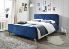 Miegamojo lova Malmo 160 aksomas granatinė Miegamojo lovos