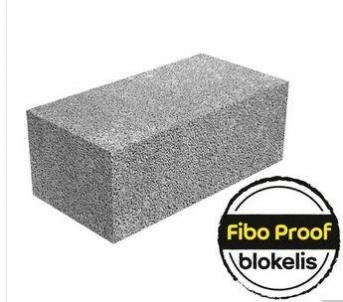 Ceramsite blocks 'Fibo Proof', 490x185x200, 3 MPa Ceramsite blocks