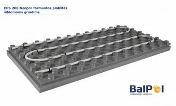 Polistirolas EPS200 NEOPOR 30x600x1200 Formuotos plokštės šildomoms grindims Polistireninis putplastis EPS 200