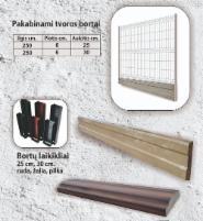 Pakabinami pamato elemento laikikliai (3 spalvos) 25 mm. ir 30 mm. The fence sees elements