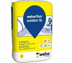 Mišinys savaime išsilyginantis grindų Weber cementinis, lauko darbams 20 kg Glue reinforcement