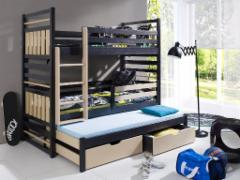 Vaikiška trivietė lova HIPOLIT Vaikiškos lovos