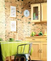 Kamštinė sienų danga HAWAI GREEN 3x300x600 mm. Cork coating