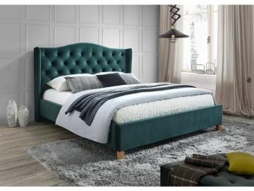 Miegamojo lova Aspen 160 aksomas žalia Miegamojo lovos