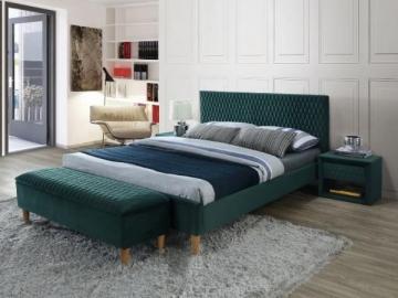 Miegamojo lova Azurro 160 žalias aksomas
