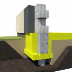 Pamatų klojinys apatinis UB300/100 30, 100x600xx2500mm (4,5m2) Finnfoam Extruded polystyrene