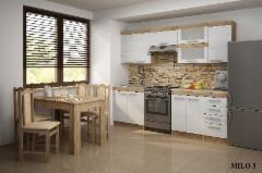 Virtuvės komplektas MILO 1 Virtuves mēbeļu komplekti