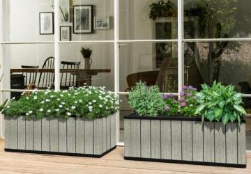 VAZONAS Sequoia Duotech Medium Planter 7290112630131 Plastikinės sodo tvorelės, borteliai, tinkleliai
