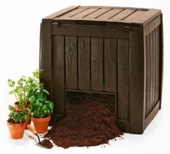DĖŽĖ komposto Deco Composter With Base 340 L 3253929000171 Plastikinės sodo tvorelės, borteliai, tinkleliai