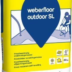 Mišinys savaime išsilyginantis lauko darbams 20 kg weberfloor outdoor SL Spec betono mišiniai