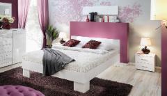 Miegamojo lova Vicky 140 balta Bedroom beds