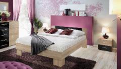 Miegamojo lova Vicky 140 sonoma/juoda Bedroom beds