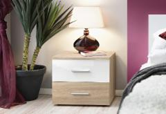 Night catchall Vicky sonoma/balta Bedroom armoires to bed
