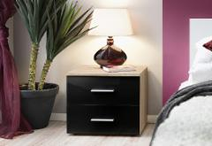 Night catchall Vicky sonoma/juoda blizgi Bedroom armoires to bed