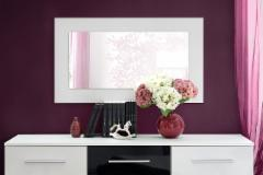 Veidrodis Vicky balta Mirrors with wooden frames