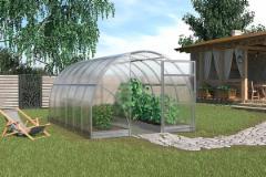 Greenhouse SIGMA (24m2) 3000x8000mm su 6mm polikarbonato danga