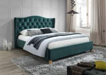Miegamojo lova Aspen 180 aksomas žalia Gultas