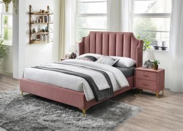 Miegamojo lova Monako 160 aksomas Miegamojo lovos
