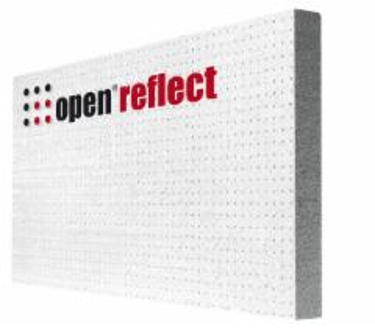 Polistireninis putplastis EPS Open Therm Reflect 031pilkas (ƛ=0,031) (1200x600x100) Polistirola eps 100