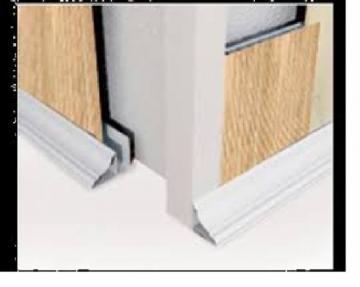 Profilis lubinis L PVC dailylentėms Waksline S A2 / SKV-1, baltas Fasādes dēļiem veidgabali (pvc, fiberboard, koksne)