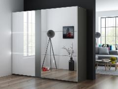 Cupboard TUNIS 250 sparkling. Bedroom cabinets