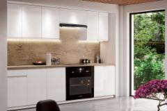 Kitchen set ASPEN 240 balta blizgi (be stalviršio) Kitchen furniture sets