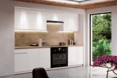 Kitchen set ASPEN 260 balta blizgi (be stalviršio) Kitchen furniture sets