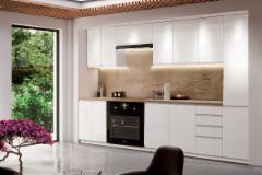 Kitchen set ASPEN 280 balta blizgi (be stalviršio) Kitchen furniture sets