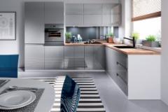 Kitchen set ASPEN 300/230 pilka blizgi (be stalviršio) Kitchen furniture sets