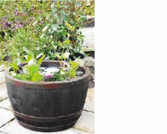 VAZONAS 40 cm BLENHEIM HALF BARREL 22L copper Разная садовая мебель