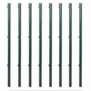Fence posts rounded tinklinei tvorai EURO FENCE 38x2000 žalias Poles, fencing