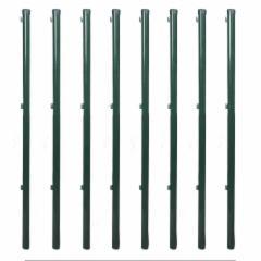 Fence posts rounded tinklinei tvorai EURO FENCE 48x2000 žalias Poles, fencing