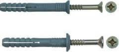 Kalamas medsr.6x100-ZnG NYLON SMN. Pins with hammered screw