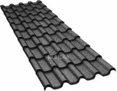 Čerpinio profilio skarda BILKA Romanic (0,50 mm blizgus) Profile tile tin sheets