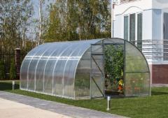 Greenhouse ORBITA (60 m2) 20x3x2 su 6mm polikarbonato danga Greenhouses