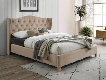Miegamojo lova Aspen 160 aksomas smėlio Miegamojo lovos