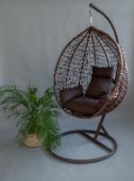 Pakabinamas supamas krėslas rudas Supynės, krėslai