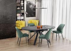 Valgomojo stalas VERTIGO with pop-up Dining room tables